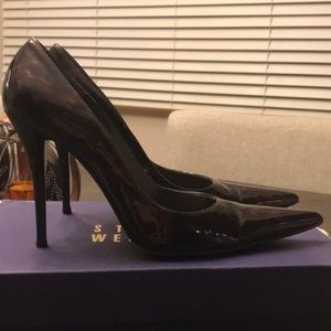 Cognac pointy heels